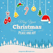 blessed christmas background vector free download