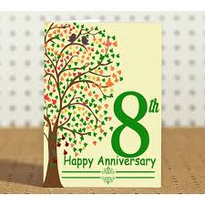 8th wedding anniversary 8th marriage anniversary gift for friend collegue relatives