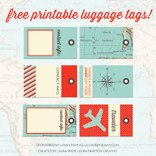 themed luggage tags free printable designer luggage tags and your chance to win one