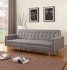 Modern Sleeper Sofa Bed Amazon Com Two Tone Modern Mid Century Grey Vintage Linen Sleeper