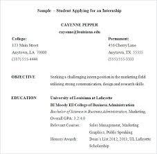 resume templates for internships intern sle resume fungram co