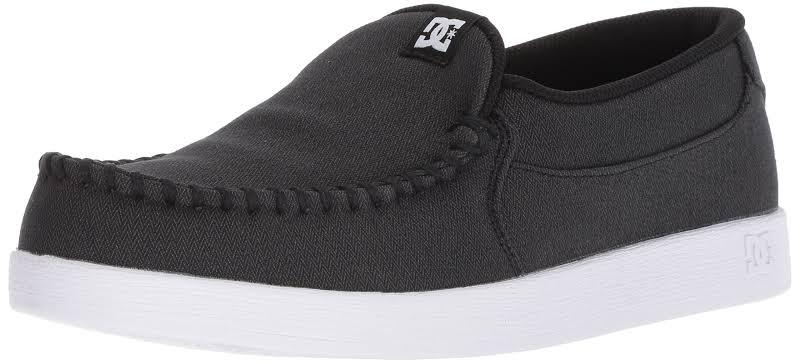DC Villain TX Moccasin Loafer Skate Shoes Black 9.5 Medium (D)