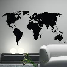 extra large world map vinyl wall sticker office interiors wall
