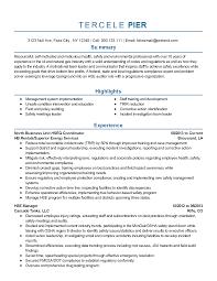 Professional Resume Samples by Professional Safety And Environmental Professional Templates To