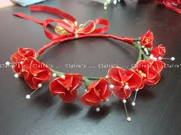 red u0026 gold wedding flowers red stocking flowers coronet for the