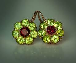 peridot earrings peridot jewelry vintage peridot earrings antique jewelry