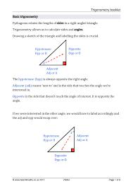 ks4 trigonometry u2013 sohcahtoa teachit maths