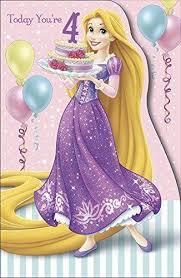 disney princess today you u0027re 4 4th birthday card gift ebay