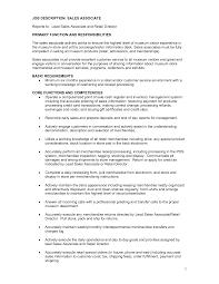 Sales Representative Job Description Resume by Job Sales Job Description For Resume