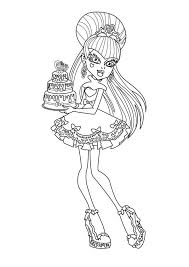 monster character bring birthday cake coloring monster