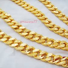 new arrival fashion 24k gp gold plated mens women men s deluxe chain 22k 23k 24k thai baht gold gp