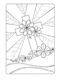 resurrection cross coloring page