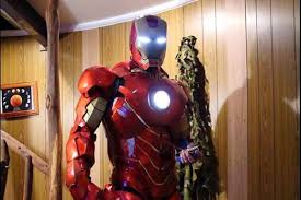 Backyard Superheroes Iron Man Suit Built In Suburban Backyard Workshop Ready To Be