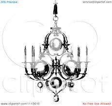 Free Chandelier Clip Art White Chandelier Clip Art Clipart Vintage Black And White Ornate