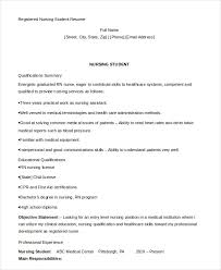 nursing graduate resume template nursing student resume exle 10 free word pdf documents