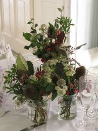 wedding flowers jam jars beautiful floral arrangements from an autumn hedgerow inspired