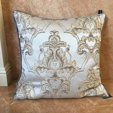 Silver And Gold Home Decor by Rodeo Home Decor Pillow Gray Baroque Silver Gold Scroll Damask