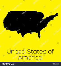 A Map Of United States Map Country United States America Stock Illustration 340701254
