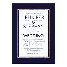 wedding invitations navy navy blue wedding invitations announcements zazzle