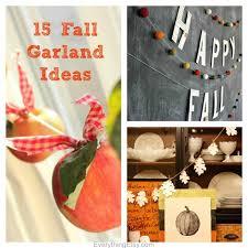 fall garland 15 fall garland ideas diy decor everythingetsy