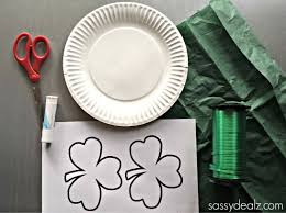 paper plate shamrock sun catcher for a st patrick u0027s day craft