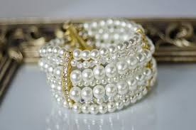 pearl style bracelet images Bridal pearl bracelet ivory white pearl bridal bracelet bridal jpg
