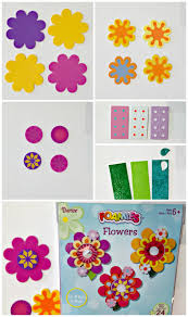 kids craft idea foamies flower wreath darice