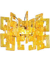 Joselyn Wall Sconce Deals On Joselyn Transparent Amber Glass Small Wall Sconce Set Of 2