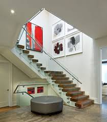 edmonton painting stair treads staircase modern with open risers