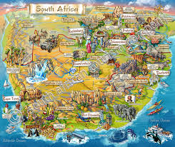 a picture of south africa map map south africa map