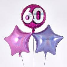 birthday balloons for him explore our range of 60th birthday balloons from 99p