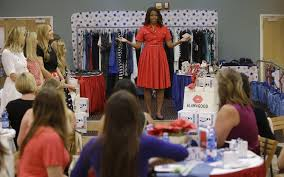 michelle obama surprises military moms to be with a stylish baby