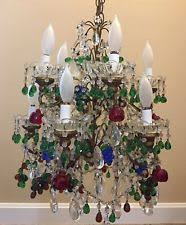 Beaded Chandelier Etsy Antique Chandeliers Fixtures U0026 Sconces Ebay