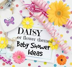 daisy flower baby shower ideas