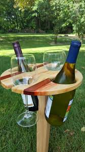 outdoor wine glass holder table folding portable wine table picnic wine table outdoor wine table