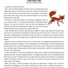 the first tail fourth grade reading comprehension worksheet adam