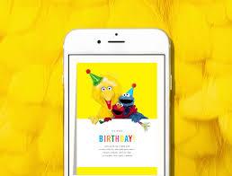 introducing sesame street kids u0027 birthday invitations paperless
