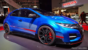 honda civic 2016 type r honda civic type r concept live pictures from the paris stand