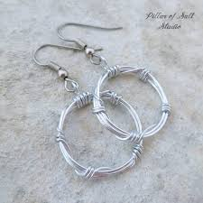 aluminum earrings barbed wire aluminum earrings pillar of salt studio inc
