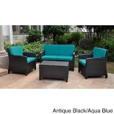 Wicker Patio Furniture Cushions Furniture Outdoor Resin Wicker Patio Furniture With Blue Cushions