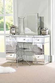 glass vanity table with mirror lucia mirrored bedside table with 3 drawers home pinterest