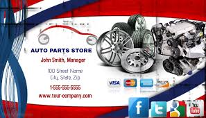 Car Name Card Design Auto Parts Store Business Card Template Postermywall