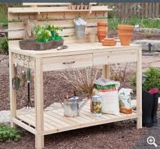 amazon com gardening potting table made of cedar wood bench with
