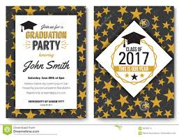Sample Invitation Card For Graduation Ceremony Graduation Party Vector Template Invitation Stock Vector Image