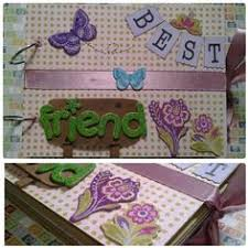 best friend photo album best friends az friendship scrapbook photo album by papersilly