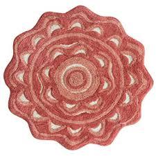 amazon com jessica simpson medallion bath rug spice coral burnt