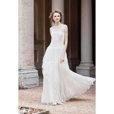 romantic illusion neckline sleeveless lance wedding dress star