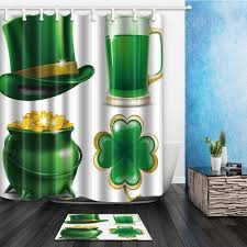 180 best s day images 2018 st s day shower curtain 180 180cm green theme deisgn