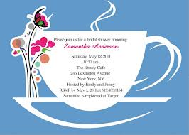 bridal tea party invitation wording bridal shower invitation wording tea party badi deanj
