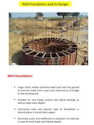 design of well foundation bending concrete